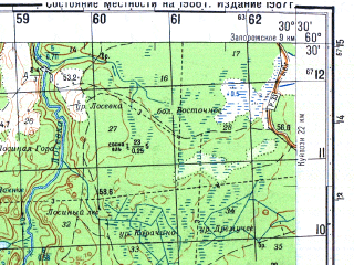 Reduced fragment of topographic map ru--gs--050k--p36-121-3_4--N060-30_E030-00--N060-20_E030-30; towns and cities Vaskelovo