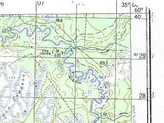 Reduced fragment of topographic map ru--gs--050k--p36-130-1_2--N060-40_E034-30--N060-30_E035-00