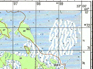 Reduced fragment of topographic map ru--gs--050k--p36-138-3_4--N060-10_E032-30--N060-00_E033-00; towns and cities Syas'stroy, Pul'nitsa