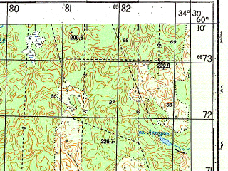 Reduced fragment of topographic map ru--gs--050k--p36-141-3_4--N060-10_E034-00--N060-00_E034-30