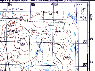Reduced fragment of topographic map ru--gs--050k--p37-106-1_2--N061-20_E040-30--N061-10_E041-00