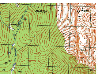 Reduced fragment of topographic map ru--gs--050k--p40-119-1_2--N061-00_E059-00--N060-50_E059-30