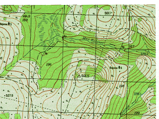 Reduced fragment of topographic map ru--gs--050k--p40-143-3_4--N060-10_E059-00--N060-00_E059-30; towns and cities Tulayka