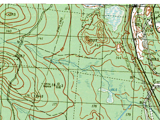 Reduced fragment of topographic map ru--gs--050k--p40-144-1_2--N060-20_E059-30--N060-10_E060-00; towns and cities Kal'ya