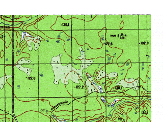 Reduced fragment of topographic map ru--gs--050k--p41-089-3_4--N061-30_E062-00--N061-20_E062-30