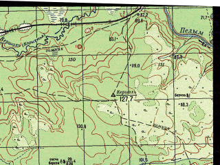 Reduced fragment of topographic map ru--gs--050k--p41-112-1_2--N061-00_E061-30--N060-50_E062-00