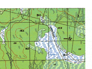 Reduced fragment of topographic map ru--gs--050k--p41-113-1_2--N061-00_E062-00--N060-50_E062-30
