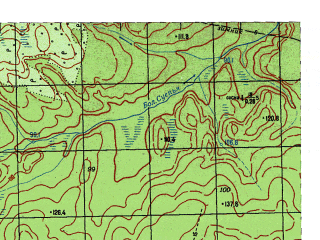 Reduced fragment of topographic map ru--gs--050k--p41-124-1_2--N060-40_E061-30--N060-30_E062-00