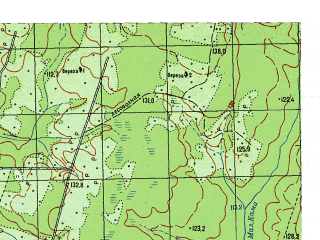 Reduced fragment of topographic map ru--gs--050k--p41-124-3_4--N060-30_E061-30--N060-20_E062-00