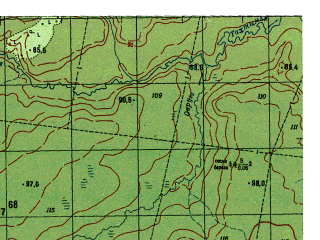Reduced fragment of topographic map ru--gs--050k--p41-125-3_4--N060-30_E062-00--N060-20_E062-30