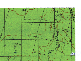 Reduced fragment of topographic map ru--gs--050k--p41-137-3_4--N060-10_E062-00--N060-00_E062-30