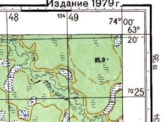 Reduced fragment of topographic map ru--gs--050k--p43-028-1_2--N063-20_E073-30--N063-10_E074-00