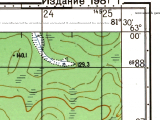 Reduced fragment of topographic map ru--gs--050k--p44-043-1_2--N063-00_E081-00--N062-50_E081-30