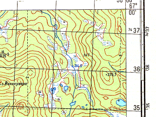 Reduced fragment of topographic map ru--gs--050k--q35-048-1_2--N067-00_E029-30--N066-50_E030-00