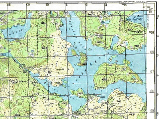 Reduced fragment of topographic map ru--gs--050k--q36-014-1_2--(1979)--N067-40_E030-30--N067-30_E031-00