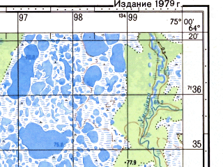Reduced fragment of topographic map ru--gs--050k--q43-138-1_2--N064-20_E074-30--N064-10_E075-00