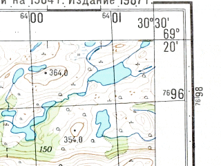 Reduced fragment of topographic map ru--gs--050k--r36-097-1_2--N069-20_E030-00--N069-10_E030-30