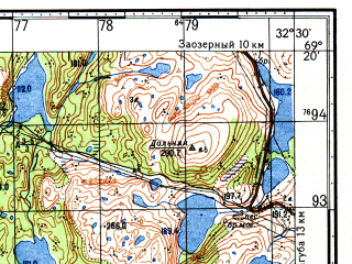 Reduced fragment of topographic map ru--gs--050k--r36-101-1_2--N069-20_E032-00--N069-10_E032-30