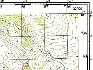 Reduced fragment of topographic map ru--gs--050k--r36-136-3_4--N068-10_E031-30--N068-00_E032-00