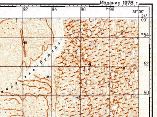 Reduced fragment of topographic map ru--gs--100k--f39-006--N024-00_E050-30--N023-40_E051-00