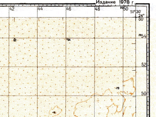Reduced fragment of topographic map ru--gs--100k--f39-007--N024-00_E051-00--N023-40_E051-30