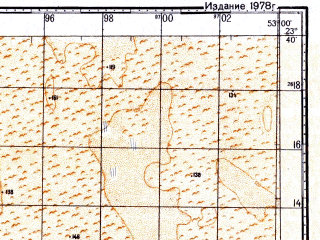 Reduced fragment of topographic map ru--gs--100k--f39-022--N023-40_E052-30--N023-20_E053-00