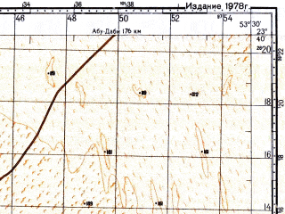 Reduced fragment of topographic map ru--gs--100k--f39-023--N023-40_E053-00--N023-20_E053-30