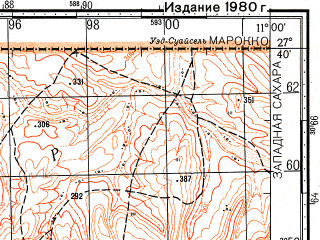 Reduced fragment of topographic map ru--gs--100k--g29-014--N027-40_W011-30--N027-20_W011-00