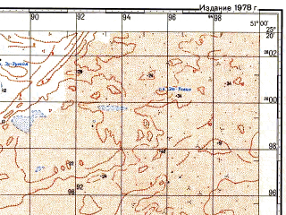 Reduced fragment of topographic map ru--gs--100k--g39-102--N025-20_E050-30--N025-00_E051-00