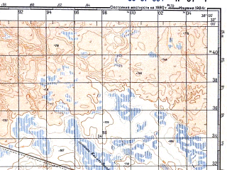 Reduced fragment of topographic map ru--gs--100k--h37-004--N032-00_E037-30--N031-40_E038-00