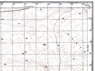 Reduced fragment of topographic map ru--gs--100k--h37-005--N032-00_E038-00--N031-40_E038-30