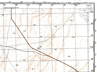 Reduced fragment of topographic map ru--gs--100k--h37-014--N031-40_E036-30--N031-20_E037-00