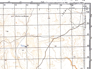 Reduced fragment of topographic map ru--gs--100k--h37-049--N030-40_E036-00--N030-20_E036-30