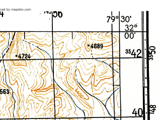 Reduced fragment of topographic map ru--gs--100k--h44-003--N032-00_E079-00--N031-40_E079-30; towns and cities Chi-ni-pu-ko, Ssu-ma-ssu