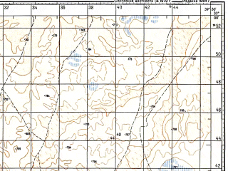 Reduced fragment of topographic map ru--gs--100k--i37-115--N033-00_E039-00--N032-40_E039-30