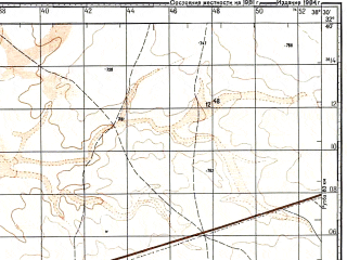 Reduced fragment of topographic map ru--gs--100k--i37-125--N032-40_E038-00--N032-20_E038-30