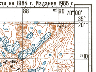 Reduced fragment of topographic map ru--gs--100k--i42-032--N035-20_E069-30--N035-00_E070-00