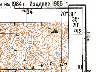 Reduced fragment of topographic map ru--gs--100k--i42-033--N035-20_E070-00--N035-00_E070-30; towns and cities Nilaw