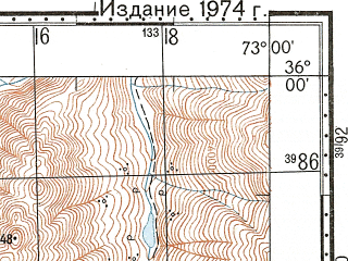 Reduced fragment of topographic map ru--gs--100k--i43-002--N036-00_E072-30--N035-40_E073-00
