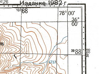 Reduced fragment of topographic map ru--gs--100k--i43-012--N036-00_E077-30--N035-40_E078-00