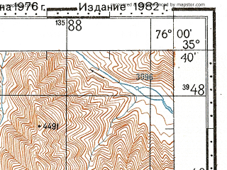 Reduced fragment of topographic map ru--gs--100k--i43-020--N035-40_E075-30--N035-20_E076-00; towns and cities Namika, Tanpa