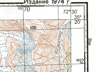 Reduced fragment of topographic map ru--gs--100k--i43-025--N035-20_E072-00--N035-00_E072-30