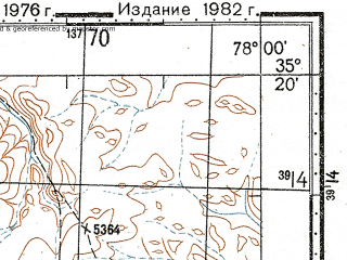 Reduced fragment of topographic map ru--gs--100k--i43-036--N035-20_E077-30--N035-00_E078-00; towns and cities Chapo, Saser