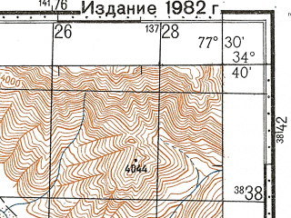 Reduced fragment of topographic map ru--gs--100k--i43-059--N034-40_E077-00--N034-20_E077-30