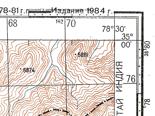 Reduced fragment of topographic map ru--gs--100k--i44-037--N035-00_E078-00--N034-40_E078-30