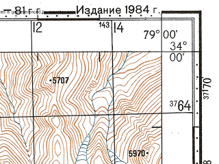Reduced fragment of topographic map ru--gs--100k--i44-074--N034-00_E078-30--N033-40_E079-00