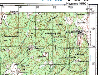 Reduced fragment of topographic map ru--gs--100k--j35-032--N039-20_E027-30--N039-00_E028-00; towns and cities Soma, Kirkagac