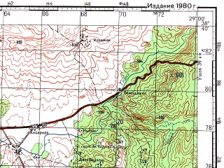 Reduced fragment of topographic map ru--gs--100k--j35-058--N038-40_E028-30--N038-20_E029-00; towns and cities Kula