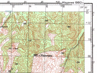 Reduced fragment of topographic map ru--gs--100k--j35-095--N037-40_E029-00--N037-20_E029-30; towns and cities Tavas, Acipayam