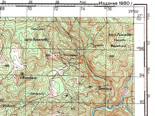Reduced fragment of topographic map ru--gs--100k--j35-118--N037-00_E028-30--N036-40_E029-00; towns and cities Koycegiz